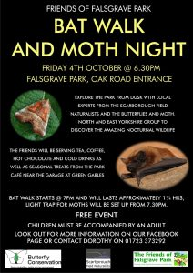 Bat Walk and Moths - Falsgrave Park 4th October